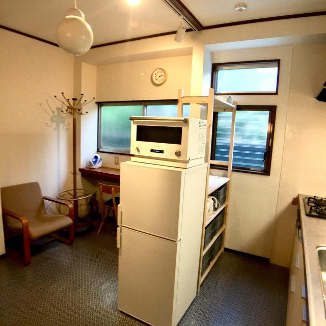 キッチンとワーキングスペース